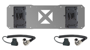 Shape v-mount battery plates and cable kit for atomos sumo