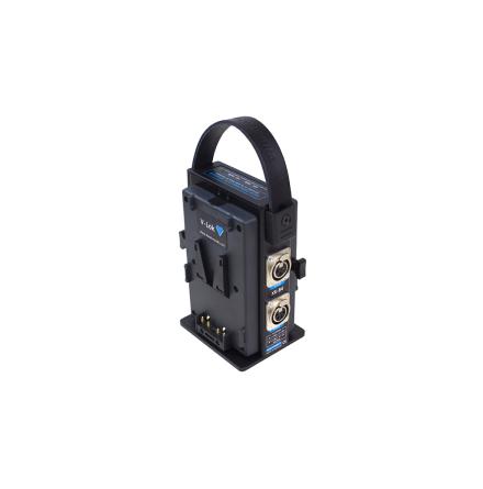 V-Lok Dual Docking Adaptor 1x XLR 3-pin 24V 2x XLR 4-pin 14V