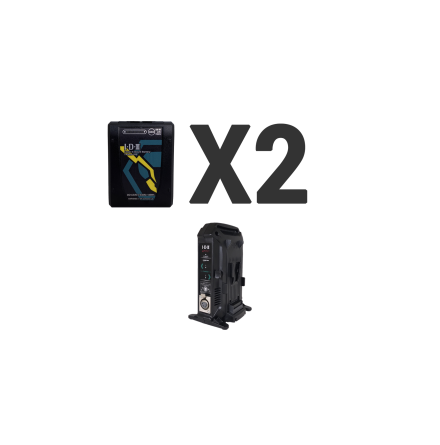 Kit 2 x Imicro-150 Battery, 1 x VL-2X Charger