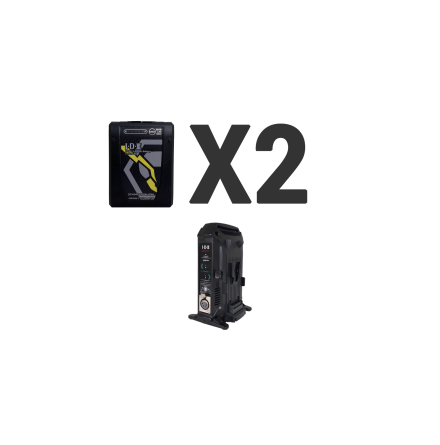 Kit 2 x Imicro-98 Battery, 1 x VL-2X Charger
